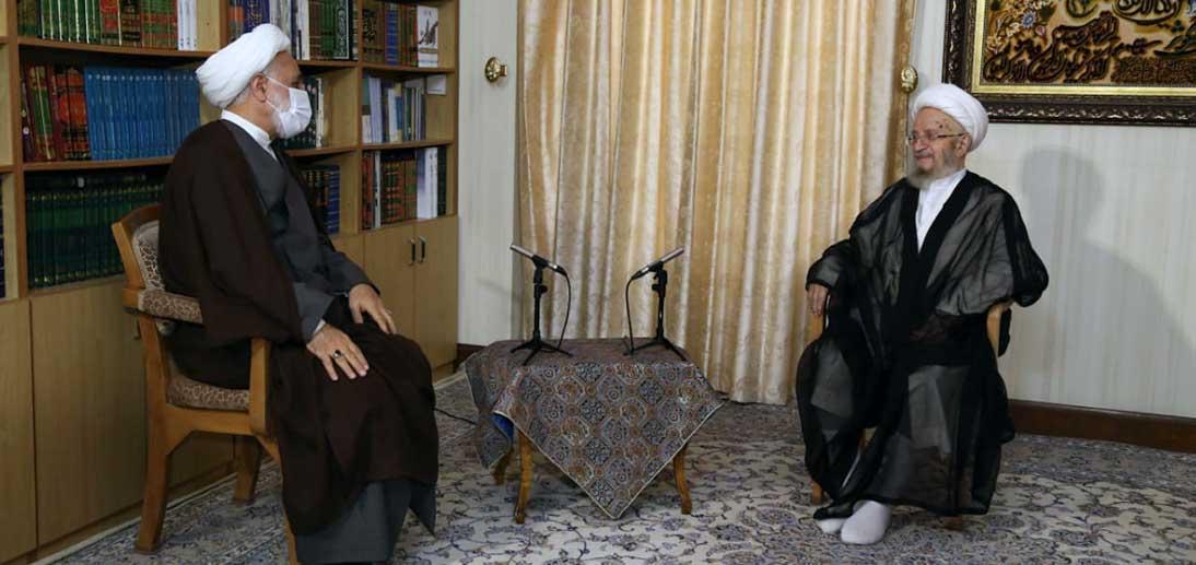 دیدار رئیس قوه قضائیه با آیت الله العظمی مکارم شیرازی دام ظله العالی