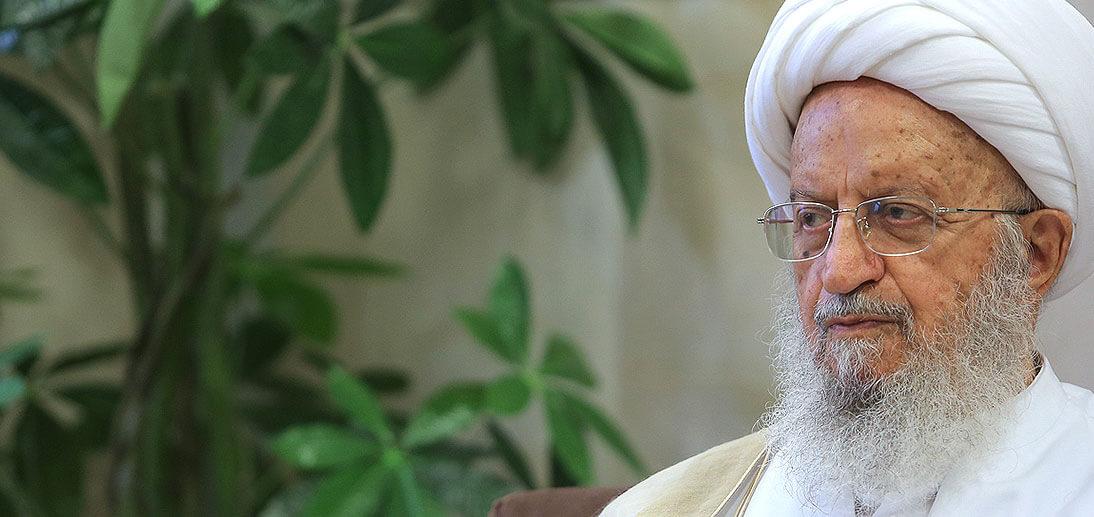 برقية آية الله الشيخ مكارم الشيرازي إلى آية الله السيد السيستاني (أدام الله ظله العالي)