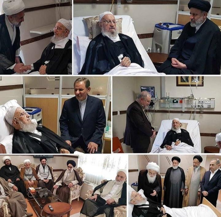 عیادت شخصیت های حوزوی و مقامات کشوری از آیتالله العظمی مکارم شیرازی