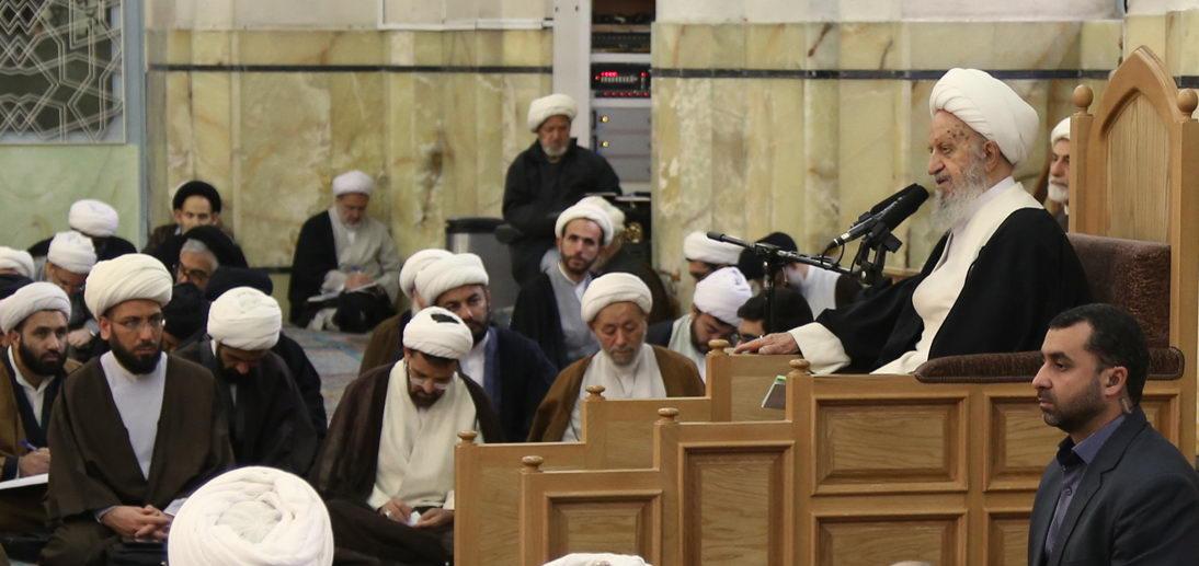 آغاز درس خارج فقه آیت الله العظمی مکارم شیرازی دام ظله در شبستان شماره 3 مسجد اعظم قم