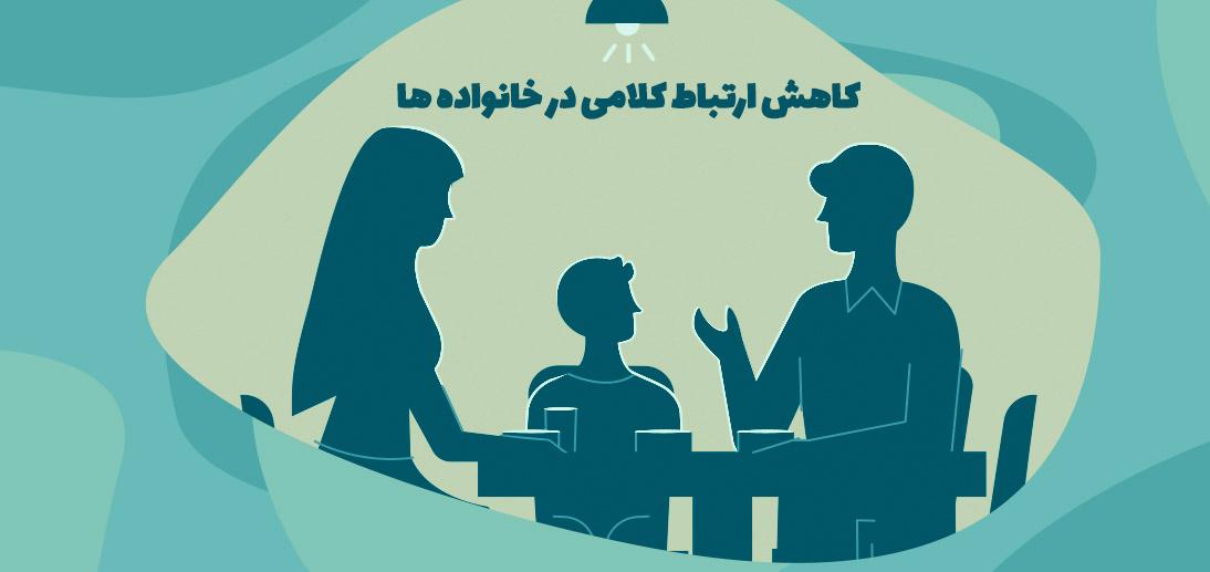 کاهش ارتباط کلامی در خانواده ها