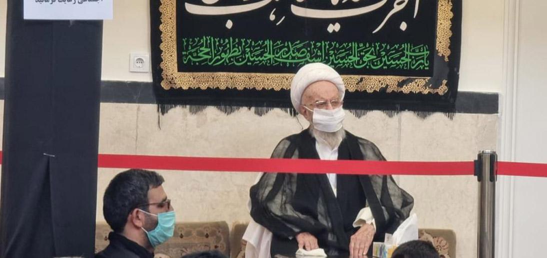 گزارش تصویری از مراسم عزاداری سالار شهیدان در روز عاشورا با حضور آیت الله العظمی مکارم شیرازی