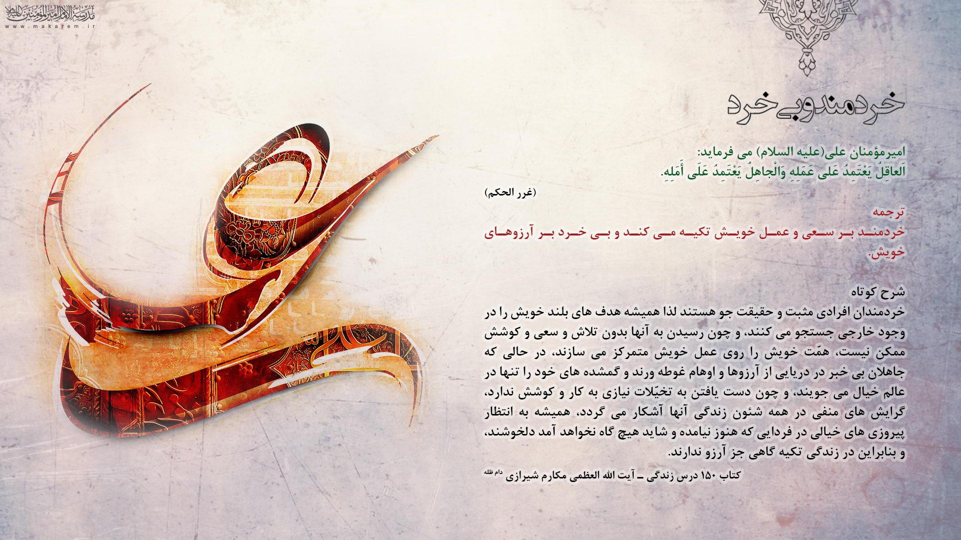 خردمند و بی خرد-مدرسه الامام امیر المومنین (ع)