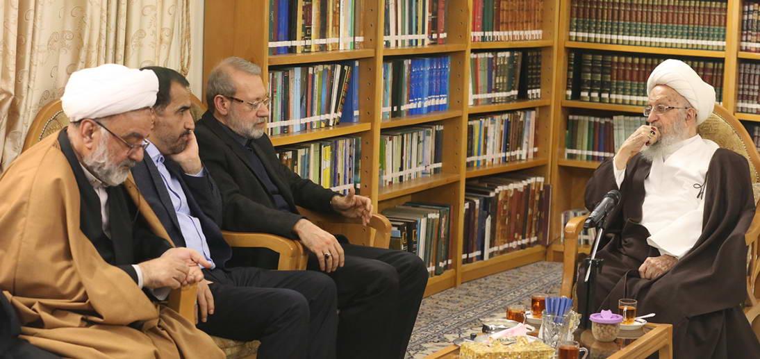 معظم له در دیدار دکتر لاریجانی رییس مجلس