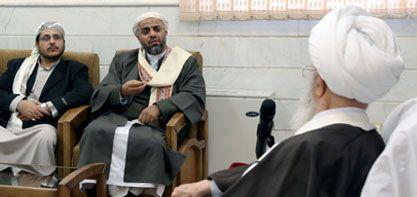 سماحته يلتقي رئيس رابطة علماء اليمن