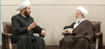 Встреча Аятоллы Макарим Ширази главным муфтием Сирии